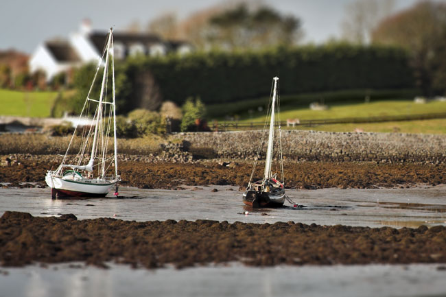 Sailboats at low tide | Segelboote bei Ebbe